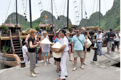 International visitors grow at two digits