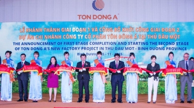 Dong A Steel JSC inaugurates US$150 million coated steel sheet factory in Binh Duong