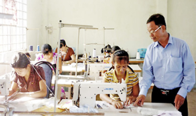 Vocational training associated with job creation
