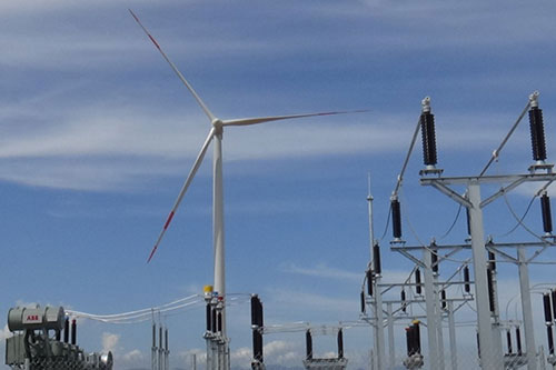 Phu Lac wind power plant switches on