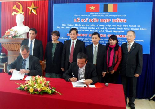 Belgium supports development of sewerage, wastewater treatment systems in Thai Nguyen