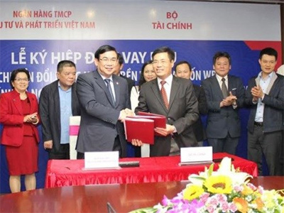 Finance Ministry, BIDV sign 105 million USD loan