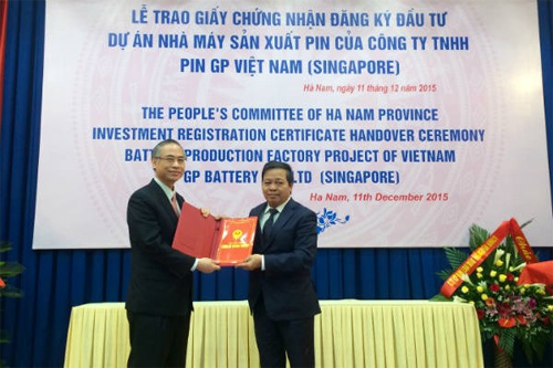 Ha Nam gives 6-mln-USD battery project investment approval