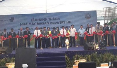 Masan Group opens brewery in Hau Giang